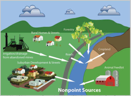 Image result for nonpoint source pollution